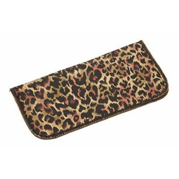 Leopard Print Soft Fabric Eyeglass Case for Women, Fits Small To Medium Frames