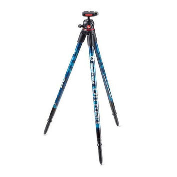 Manfrotto Off Road Blue Tripod with Ballhead, Supports 5.35 lbs, Weighs 1.4 lbs