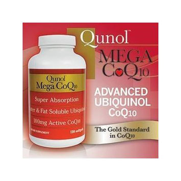 Qunol Mega CoQ10 Softgels, 100 Mg, 120 Count Single & Multi Packs