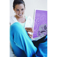 Room Mates Peel and Stick Laptop Skin in Pink Paisley