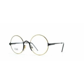 Gianfranco Ferre 23 17G Black and Gold Authentic Men - Women Vintage Eyeglasses Frame
