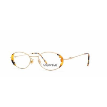 Lagerfeld 4303 01 Brown and Gold Authentic Women Vintage Eyeglasses Frame