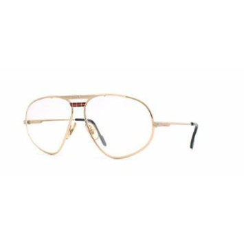 Ferrari 12 524 Gold Authentic Men Vintage Eyeglasses Frame