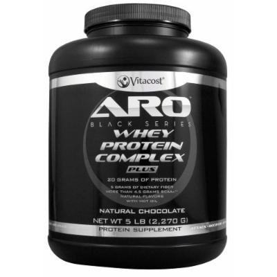 ARO-Vitacost Black Series Whey Protein Complex PLUS Natural Chocolate -- 5 lb (2270 g)