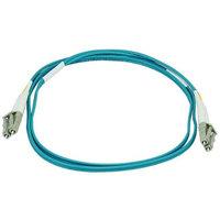Monoprice 10Gb Fiber Optic Cable, LC/LC, Multi Mode, Duplex - 1 Meter (50/125 Type) - Aqua