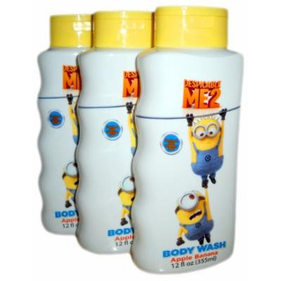 *3 Pack*Despicable Me 2 Body Wash Apple Banana Scented 12oz. Size