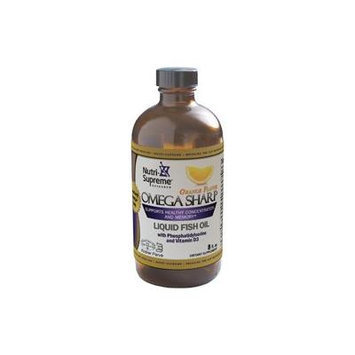 Nutri-Supreme Research Omega Sharp Fish Oil with Phosphatidylserine and Vitamin D3 EPA/DHA Liquid Or