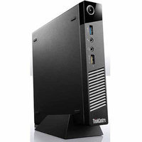 Lenovo Black ThinkCentre M93p Desktop PC with Intel Core i5-4570T Dual-Core Processor, 4GB Memory, 500GB Hard Drive and Windows 7 Professional (Monitor Not Included)