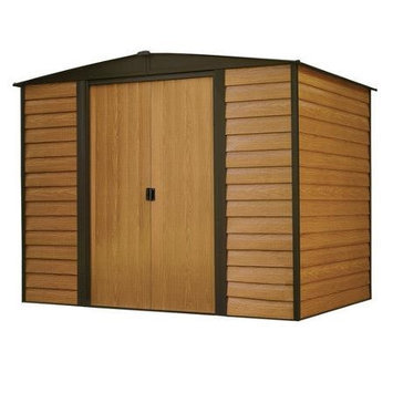 Arrow Woodridge Galvanized Steel Storage Shed (Common: 10-ft x 8-ft; Interior Dimensions: 9.85-ft x 7.5-ft) WR108