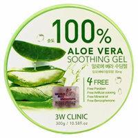 3W Clinic 100% Aloe Vera Soothing Gel - 300g / 10.58 fl. oz