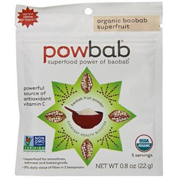 Powbab Organic Baobab Superfruit Powder, 5 Count