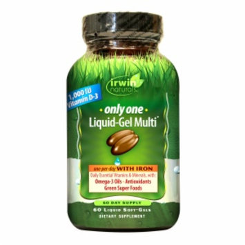 Irwin Naturals Only One Liquid-Gel Multi with Iron