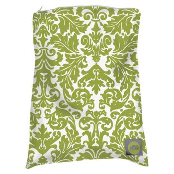 Itzy Ritzy Travel Happens Wet Bag Large-Avocado Damask - Green/White