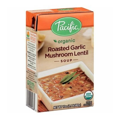 Pacific Organic Roasted Garlic Mushroom Lentil Soup