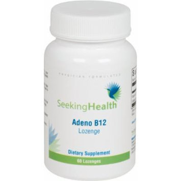 Adeno B12 Lozenge , 3,000 mcg Adenosylcobalamin , Mitochondrial Form of Vitamin B12 , 60 Lozenges , Free of Common Allergens and Magnesium Stearate ,Seeking Health