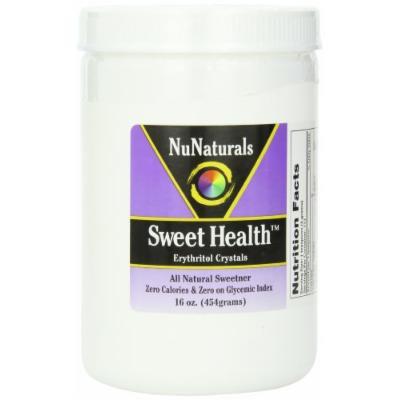 NuNaturals Sweet Health Erythritol Crystals Powder, 16 Ounce