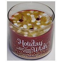 Bath & Body Works 1 X Bath and Body Works HOLIDAY WISH 3 Wick Scented Candle, 2014 - 14.5 Oz