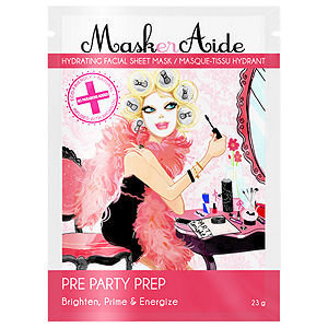 MaskerAide Pre-Party Prep Facial Sheet Mask, 1 ea
