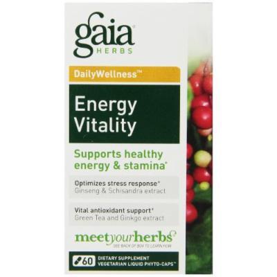 Gaia Herbs Energy Vitality Liquid Phyto-Capsules, 60 Count