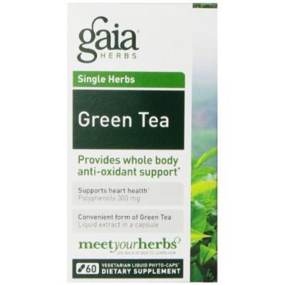 Gaia Herbs Green Tea Liquid Phyto-Capsules, 60 Count