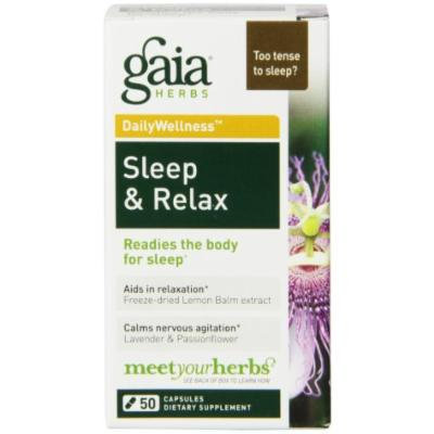 Gaia Herbs Sleep and Relax Capsules, 50 Count