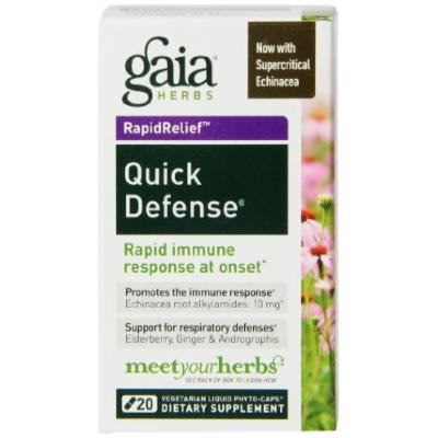 Gaia Herbs Quick Defense Liquid Phyto-Capsules, 20 Count