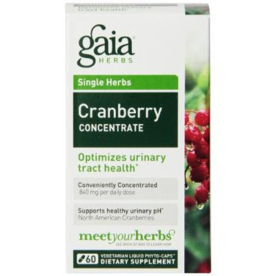 Gaia Herbs Cranberry Concentrate Liquid Phyto-Capsules, 60 Count