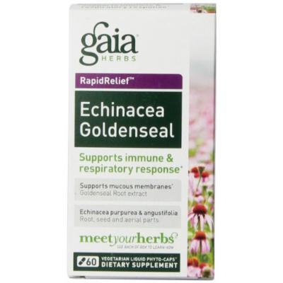 Gaia Herbs Echinacea Goldenseal Liquid Phyto-Capsules, 60 Count