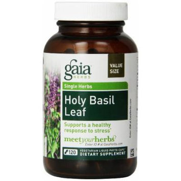 Gaia Herbs Holy Basil Leaf Liquid Phyto-Capsules, 120 Count