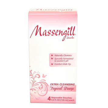 Massengill Extra Cleansing Disposable Douche, Tropical Breeze, 4 ea