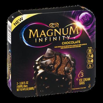 Magnum Infinity Ice Cream Bars Chocolate - 3 CT