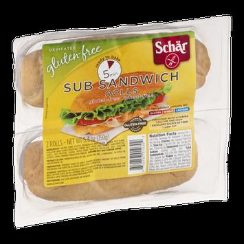 Schar Sub Sandwich Rolls Gluten-Free - 2 CT