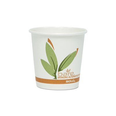 Solo Cup Company Bare Eco-Forward Recycled Content PCF Hot Cups, 4 oz, 1,000/Carton