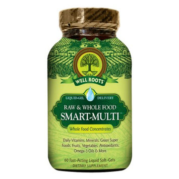 Well Roots Raw & Whole Food Smart-Multi, Softgels