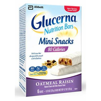 Glucerna Mini Snack Nutrition Bars, Oatmeal Raisin, 0.70-Ounce, 36 Count