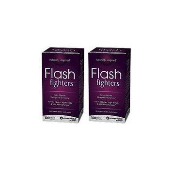 Vitamin World Flash Fighters, 100 Caplets, Menopause Relief (Pack of 2)