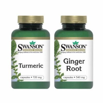 Turmeric and Ginger Anti Inflammatory Supplements Combo Pack
