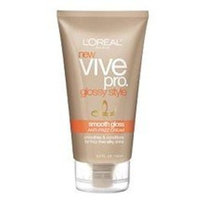 L'Oréal Paris Vive Pro Glossy Style Smooth Gloss Anti-Frizz Cream, 5-Fluid Ounce