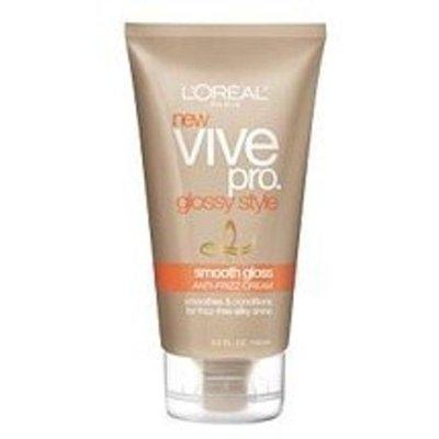 L'Oréal Paris Vive Pro Glossy Style Smooth Gloss Anti-Frizz Cream, 5-Fluid Ounce