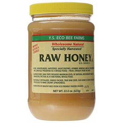 Y.S. Eco Bee Farms Raw Honey - 22 oz (4 Pack)