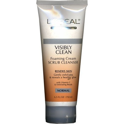 L'Oréal Paris Visibly Clean Foaming Cream Scrub Cleanser for Normal Skin