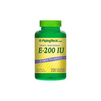 Natural Vitamin E-200 IU 200 Liquicaps
