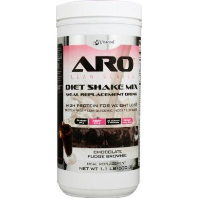ARO-Vitacost Lean Series Diet Shake Mix Chocolate Fudge Brownie -- 1.1 lbs (500 g)