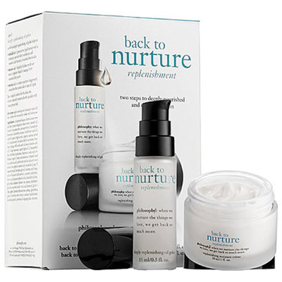philosophy back to nurture replenishing oil and moisture creme duo, 1 set