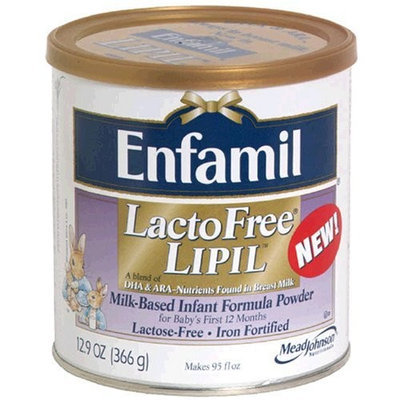 Enfamil LactoFree Lipil Milk-Based Infant Formula Powder, Iron Fortified, 12.9-Ounce Canisters (Pack of 6)