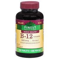 Finest Nutrition Vitamin B12 500mcg Tablets