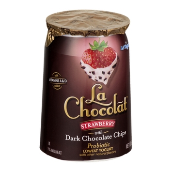 La Chocolat Lowfat Yogurt Strawberry with Dark Chocolate Chips