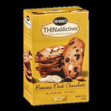 Nonni's THINaddictives Almond Thins Banana Dark Chocolate - 6 PK