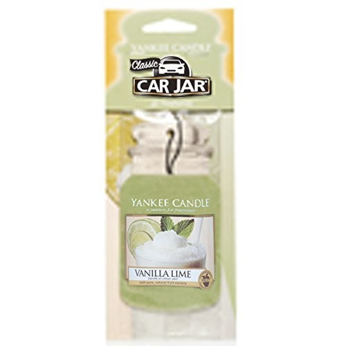 Yankee Candle Car Jar Hanging Air Freshener Vanilla Lime Scent