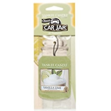 Yankee Candle Car Jar Hanging Air Freshener Vanilla Lime Scent